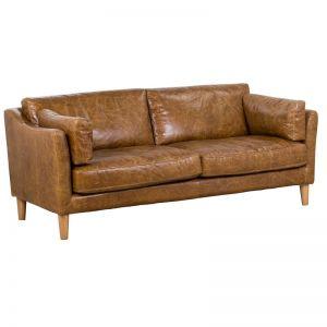 Nordic 3 Seat Sofa | Cuba Brown | Schots