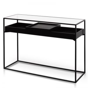 Norman Metal Frame Console | Black | Interior Secrets