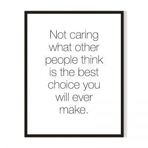 Not Caring | Framed Print | Artefocus