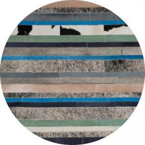 Nueva Raya Rug Circulo by Art Hide   Blue