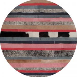 Nueva Raya Rug Circulo by Art Hide | Peach