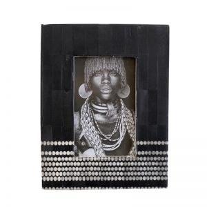 Nuru Photo Frame | Black | by Raw Decor