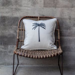 Oasis Palm Cushion Cover | Off White | Pineapple Traders