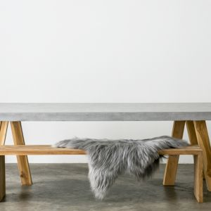 OBI | Recycled Teak and Concrete Dining Table | 240 x 110cm