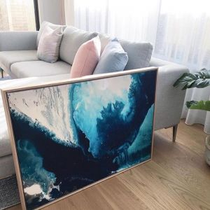 Ocean | Framed Canvas Print by Jacqui Macumber