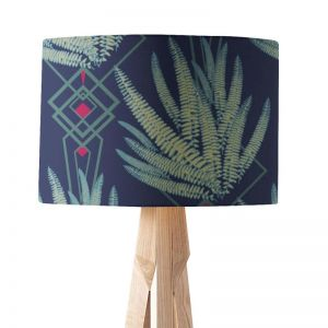 Octavia Deep Blue | Paper Lampshade | Various Sizes | Amba Florette