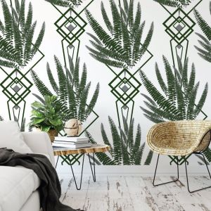 Octavia - Nature's Glamour | Eco Wallpaper | Octavia Green | Amba Florette