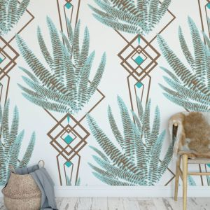 Octavia - Nature's Glamour | Eco Wallpaper | Octavia Ice Blue | Amba Florette