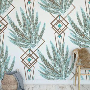 Octavia - Nature's Glamour | Eco Wallpaper | Octavia Ice Blue | Amba Florette