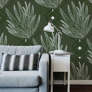 Octavia - Nature's Glamour | Eco Wallpaper | Octavia Olive | Amba Florette