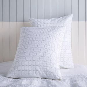 Odette Euro Pillowcase White by Kas Australia
