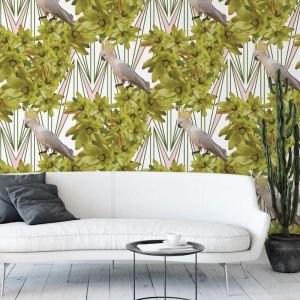 Oh My Darling Cockatoo - Flight's Of Fancy | Eco Wallpaper | Amba Florette