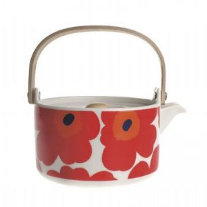 Oiva and Unikko Teapot   Red