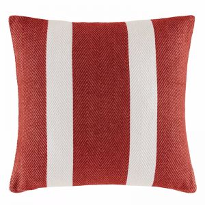 Oldham Stripe Cushion by Kas Australia | Rust