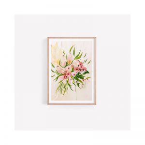Olivia | Banksia Australian Native Bouquet | Unframed Print