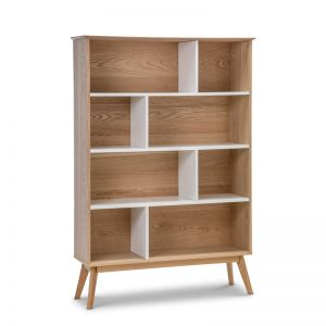 Ollie Oak Bookshelf | White