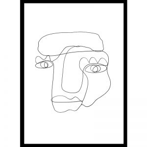 Ollie | One Line Art Print | Jess Marney Design