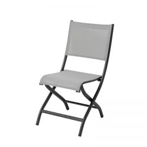 Olo Patio Folding Chair | Charcoal | CLU Living