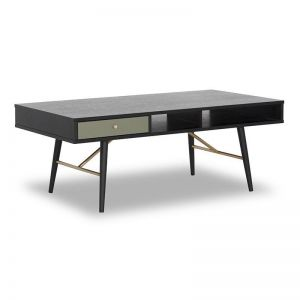 Omari Coffee Table | 117cm | Black & Green Oak