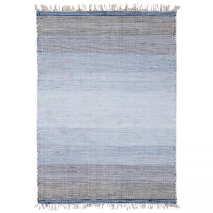 Ombre Blue Hand Woven Wool Rug
