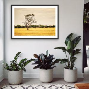 On The Farm   Australian Countryside Landscape Art Print