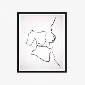 One Line Nude Series II | No.01 | One-off Original Artwork | Framing Options