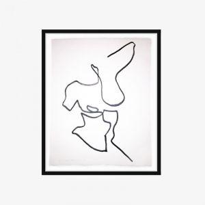 One Line Nude Series II | No.05 | One-off Original Artwork | Framing Options