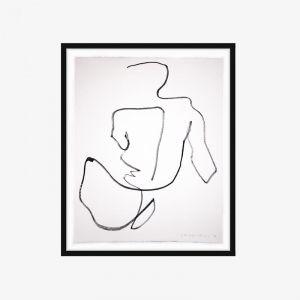 One Line Nude Series II | No.10 | One-off Original Artwork | Framing Options