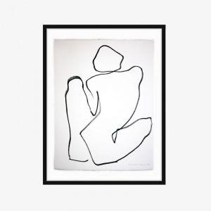 One Line Nude Series II | No.8 | One-off Original Artwork | Framing Options