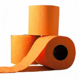 Orange Toilet Paper | 3 ply | 3 Roll Gift Set
