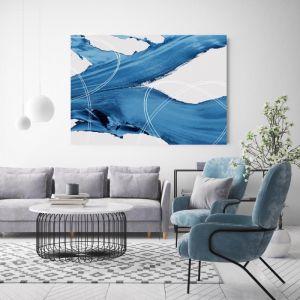 Orbit Blues | Canvas Wall Art by Beach Lane
