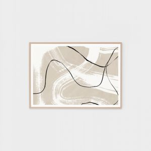 Organic Contours 1 | Framed Abstract Print