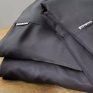 Organic Natural Bamboo Flat Sheet Bed Sheet Charcoal 500 Thread | All Sizes