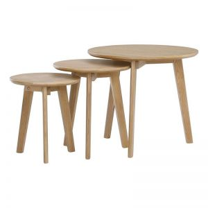ORIEL Nest of Tables | Oak Veneer