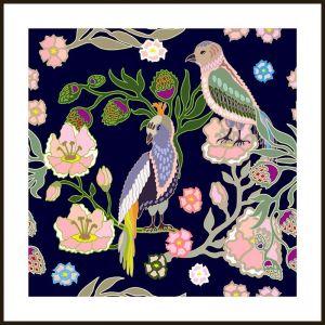 Oriental Birds #2   Framed Art Print by Tusk Gallery
