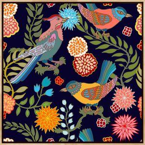 Oriental Birds #4 | Framed Art Print by Tusk Gallery