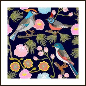 Oriental Birds #4   Framed Art Print by Tusk Gallery