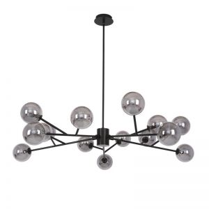 Orion 15 Light Pendant in Black/Smoke | By Beacon Lighting