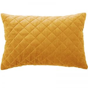 Othello Quilted Velvet Cushion | Gold