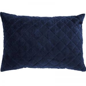 Othello Quilted Velvet Cushion | Navy | CLU Living