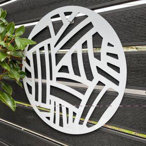 Outdoor Circle Decorative Panel | Metal Cutout Circle K.1