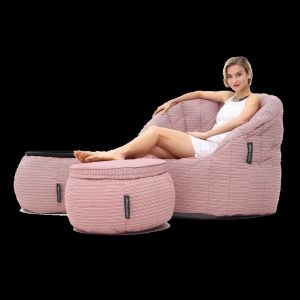 Outdoor / Indoor Contempo Designer Set by Ambient Lounge | Raspberry