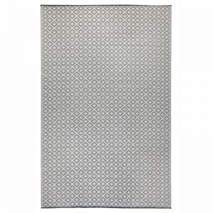 Outdoor Rug & Mat   Recycled Plastic   Kimberley Grey & White