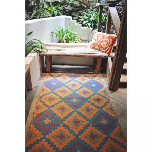Outdoor Rug | Saman Blue & Orange