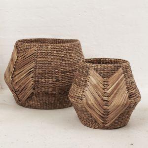 Oversize Tribal Weave Basket l Pre Order