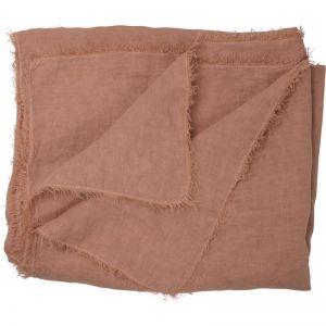 Oversized Linen Throw | Rose Dust
