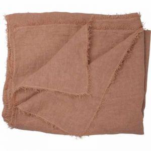 Oversized Linen Throw   Rose Dust