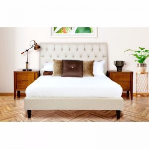 Paddington Custom Upholstered Bed   Diamond Tufting & Deluxe Base