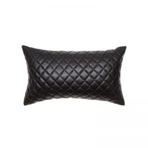 Pages Cushion by Amigos De Hoy | Rectangle | Quilted | Black