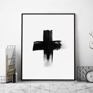 Painted Cross by RK Design | Unframed Art Print